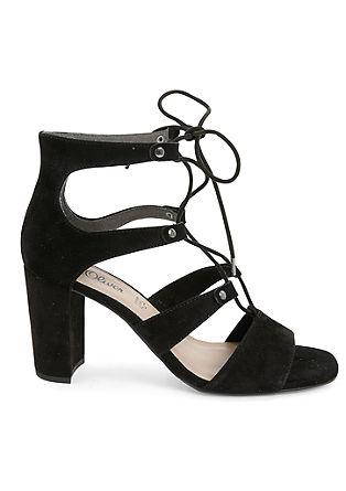 Sandalete z vezalkami in s polno peto