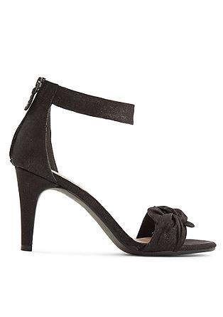 Sling-Sandalette mit Glanzeffekt