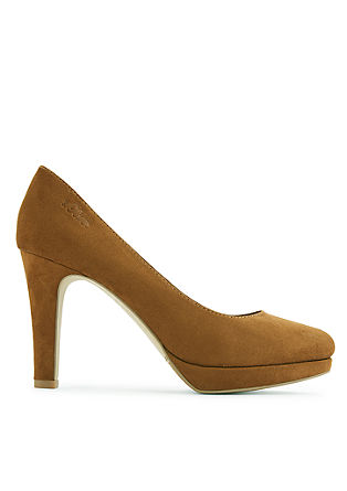 Velours-Pumps mit Plateau