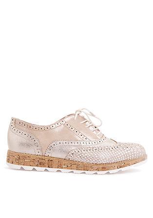 Čevlji z vezalkami s podplatom v videzu plute
