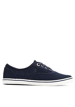 Sneakers met een netstoflook