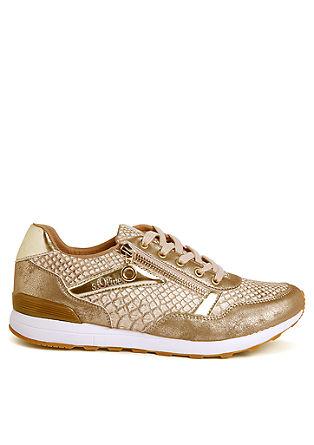 Glamour sneakers van materiaalmix