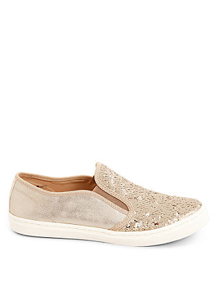 Slip-on Sneaker mit Pailletten