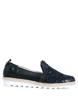 Metallic-Slipper mit Pailletten