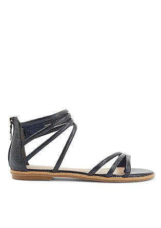 Riemchen-Sandalen in Metallic