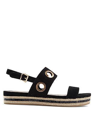 Sandalen met metalen details