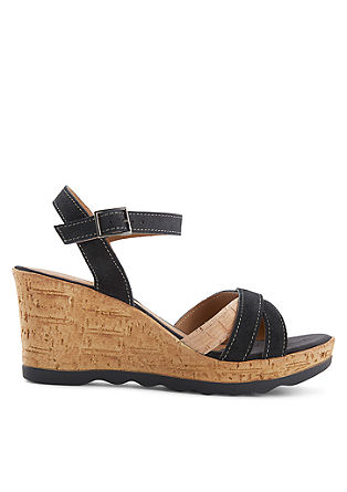 Wedges aus Veloursleder