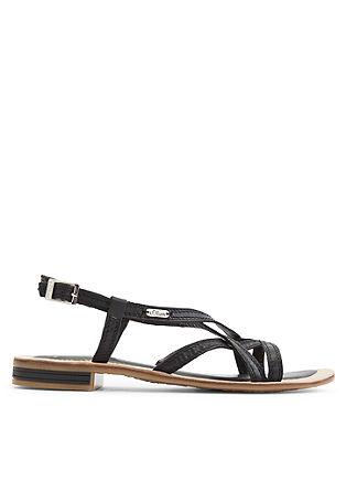 Riemchen-Sandalen aus Leder