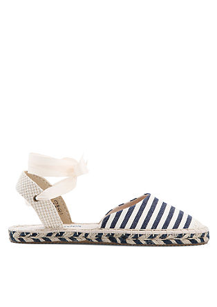 Lace-up espadrilles met strepen