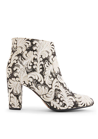 Ankle Boots im Jacquard-Design