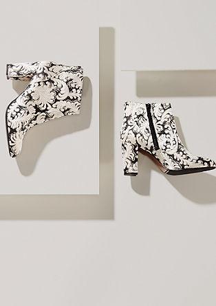 Ankle Boots im Jacquard-Design