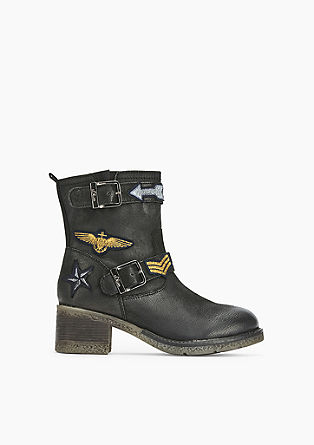 Derbe Lederboots mit Patches