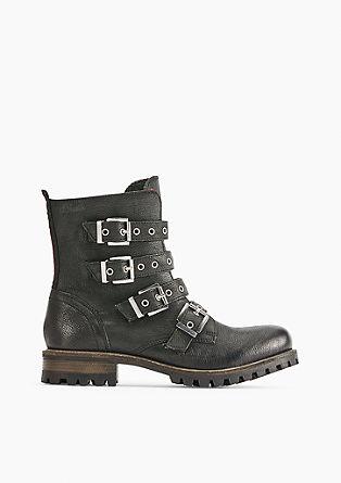 Rockige Leder-Boots