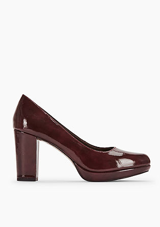 Elegante pumps met plateauzool