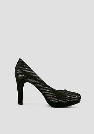 Pumps mit Metallic-Muster