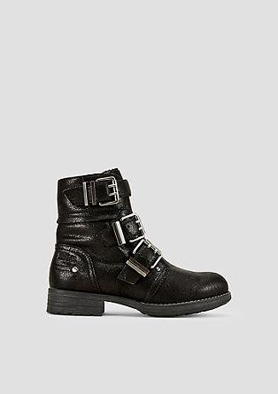 Buckle-Boots im Vintage-Look