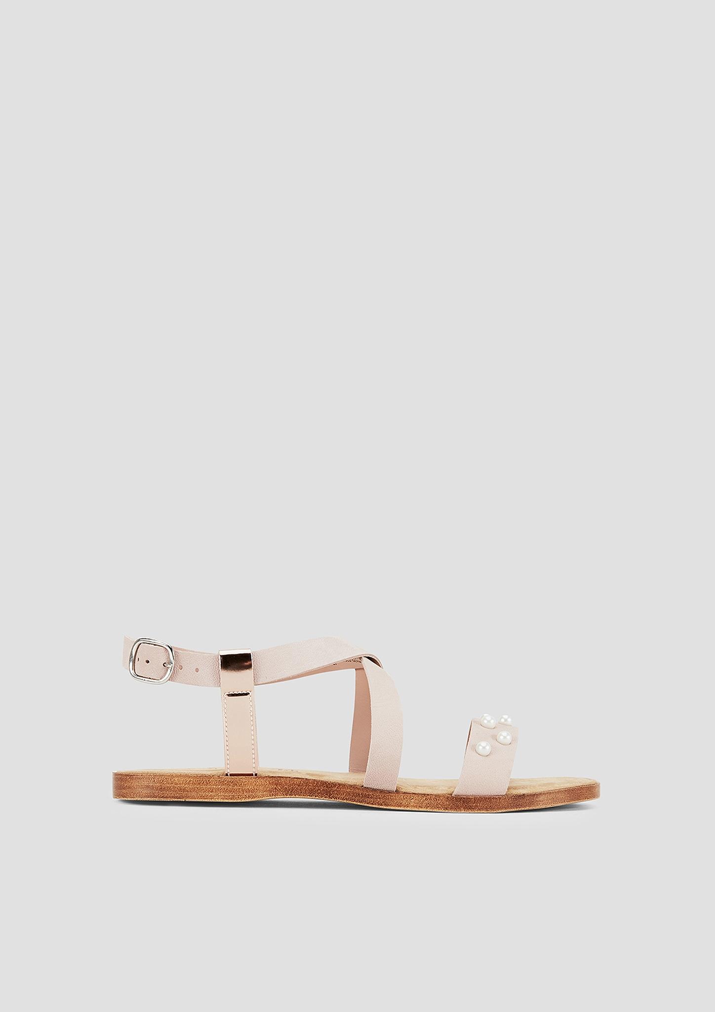 Merken Zum Artikel Riemensandalen   Schuhe   Sandalen   Zehentrenner    Römersandalen   Grau schwarz   Obermaterial aus 1b9e55be4b