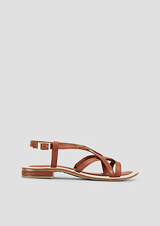 Leren sandalen met riempjes