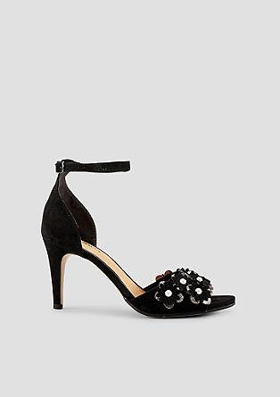 Sandaletten mit Blüten-Applikation