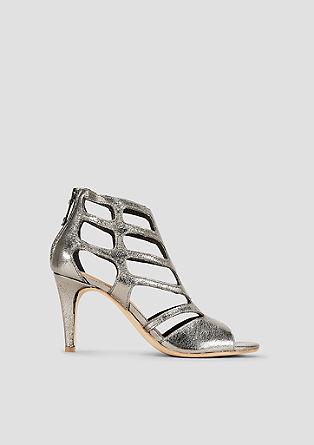 Sandalen van imitatielakleer