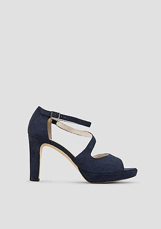 Sling-Sandalette aus Velours