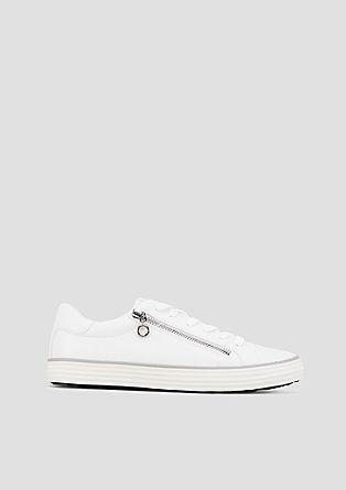 Glamour sneakers van een materiaalmix