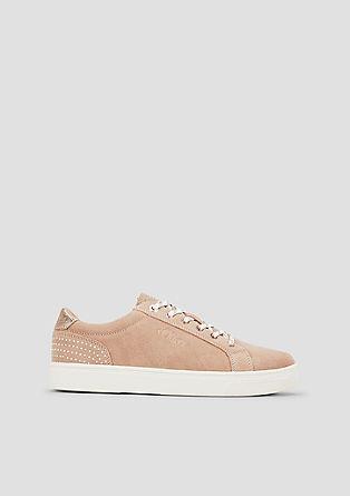 Leder-Sneaker mit Lochmuster