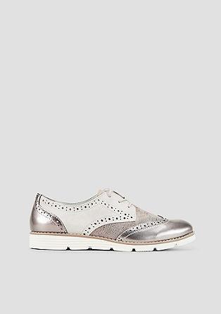 Loafers in brogue style met een matglanzend effect