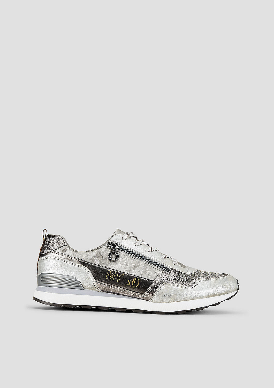 s.Oliver Metallic-Sneaker mit Artworks pCp0w