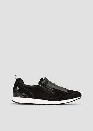 Čevlji brez vezalk iz velurnega usnja