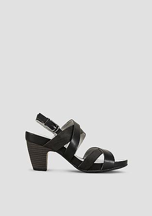 Sandalen met een metallic effect
