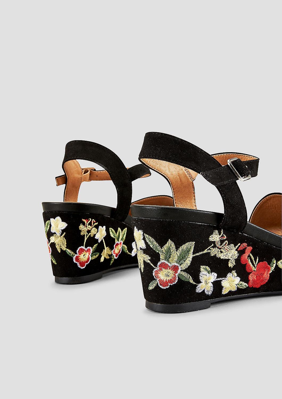 s.Oliver - Keil-Sandalette mit Embroidery - 5