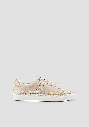 Canvas sneakers met metallic detail