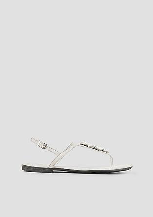Sandalen met sierparels