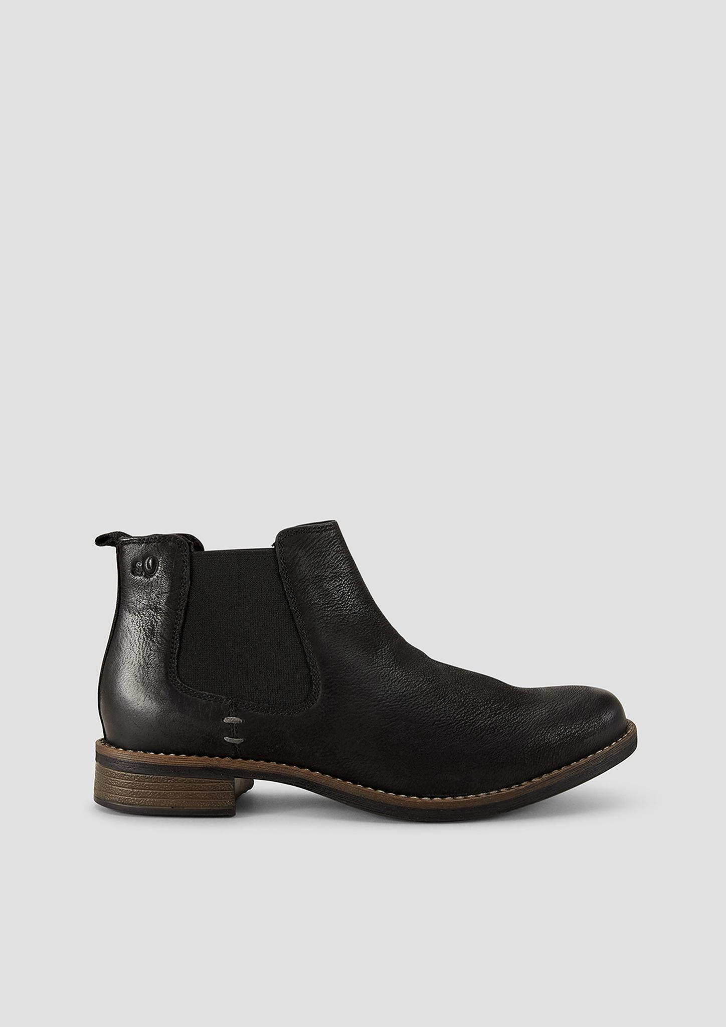 Chelsea-Boots | Schuhe > Boots > Chelsea-Boots | Grau/schwarz | Obermaterial aus leder| innenfutter und innensohle aus textil| laufsohle aus synthetik | s.Oliver