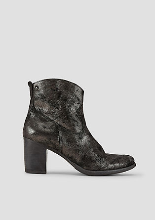 Metallic-Boots im Glitzer-Look