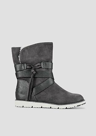 Boots met voering van pluche