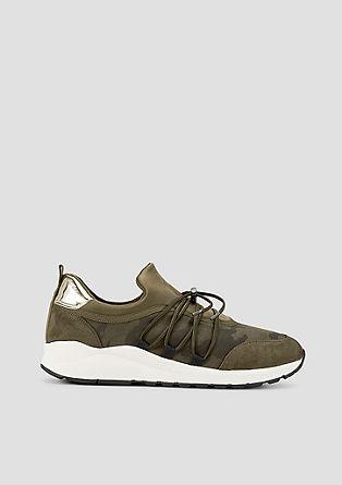 Lichte sneakers met metallic detail