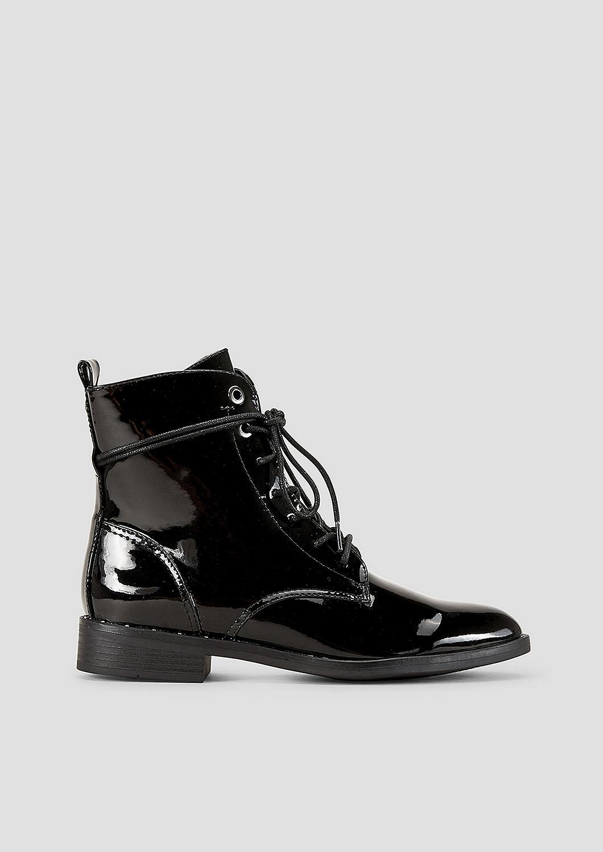 s.Oliver Schnürschuhe blau Damen Schuhe Lackleder Schnürung