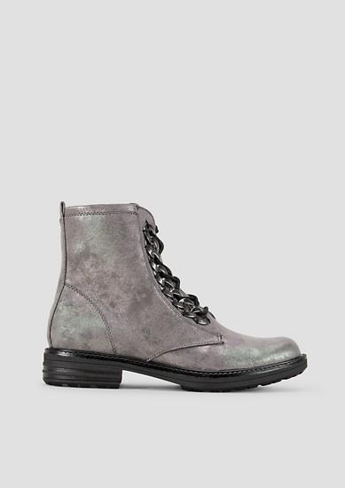 Boots mit Metallic-Effekt