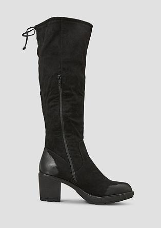 Gefütterte Velours-Stiefel