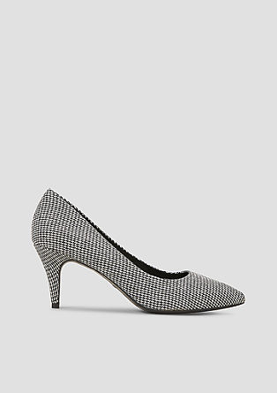Spitse pumps met geweven textiel