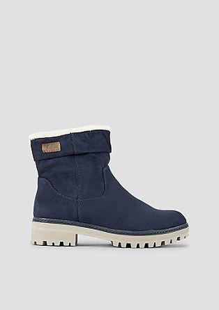 Gefütterte Velours-Boots
