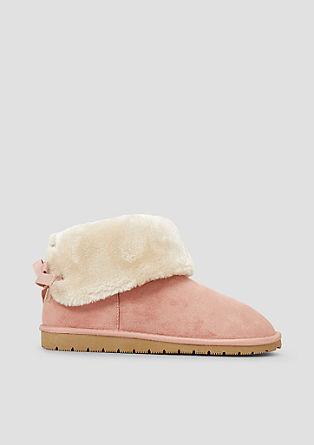 Kuschelige Booties mit Fake Fur