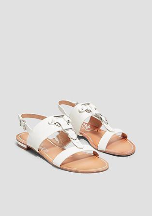 Sandalen mit Metallic-Details