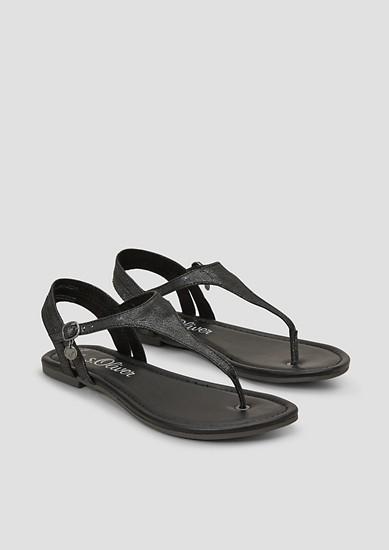 Zehentrenner-Sandalen mit Riemchen