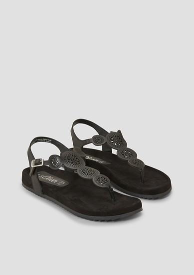 Zehentrenner-Sandalen aus Leder