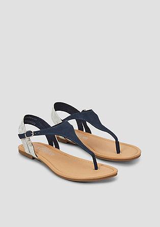Sandalen met een metallic detail