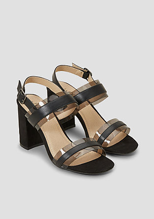 Sandaletten mit transparenten Riemen
