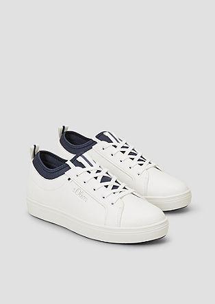 Sneakers met elastische inzet